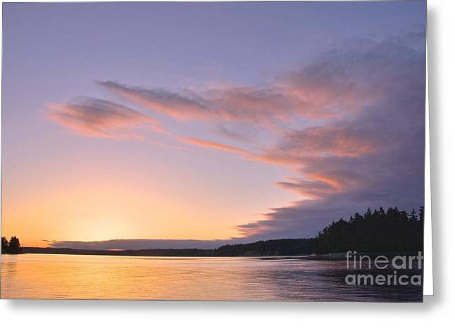 On Puget Sound - 2 Greeting Card by Sean Griffin