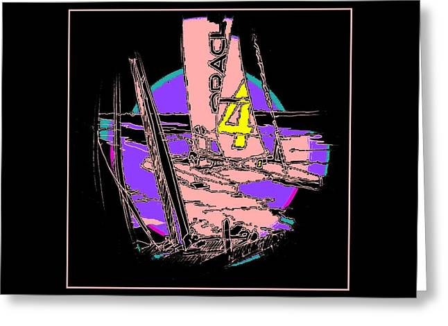 Yachting Mixed Media Greeting Cards - On The Bay 1 Greeting Card by Andrew Drozdowicz
