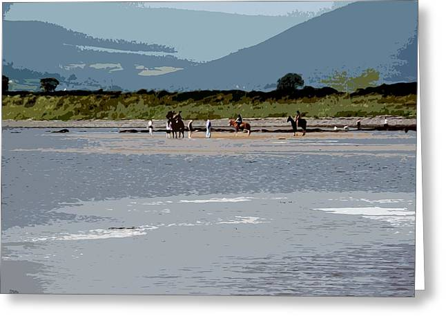 Tablets Greeting Cards - On The Beach Greeting Card by Patrick J Murphy