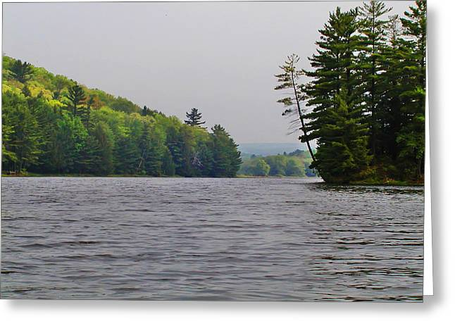 Delaware Digital Art Greeting Cards - On the Delaware River Greeting Card by Bill Cannon