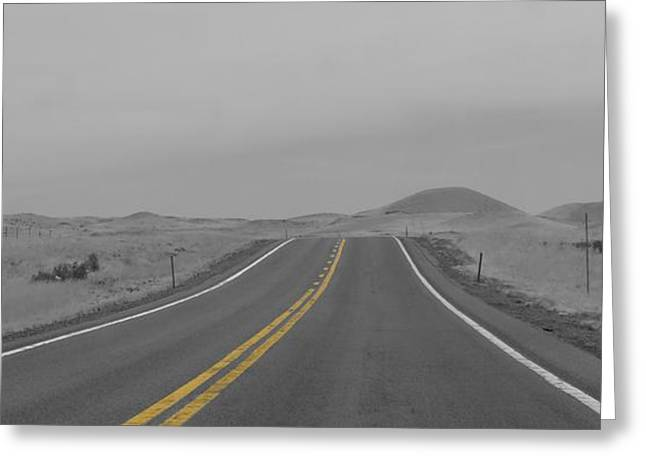 Peace And Freedom Greeting Cards - On The Road Again Greeting Card by Dan Sproul