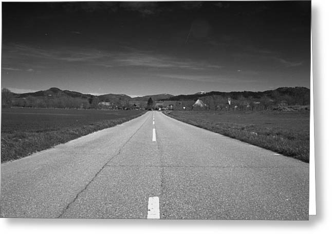 Go Forward Greeting Cards - On the road Greeting Card by Marcio Faustino