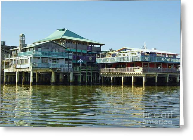 Cedar Key Greeting Cards - On The Waterfront Greeting Card by D Hackett