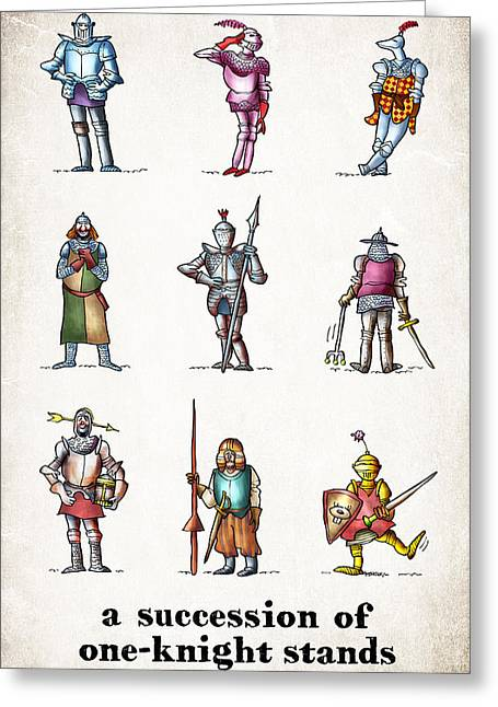 One Knight Stands Greeting Card by Mark Armstrong