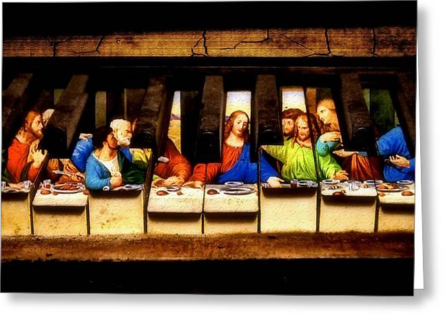 Last Supper Digital Greeting Cards - One Last Melody Greeting Card by Jared Johnson