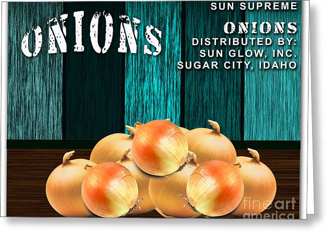 Onion Greeting Cards - Onion Farm Greeting Card by Marvin Blaine