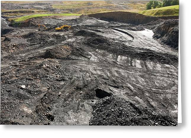 Open Cast Coal Mine Greeting Card by Ashley Cooper