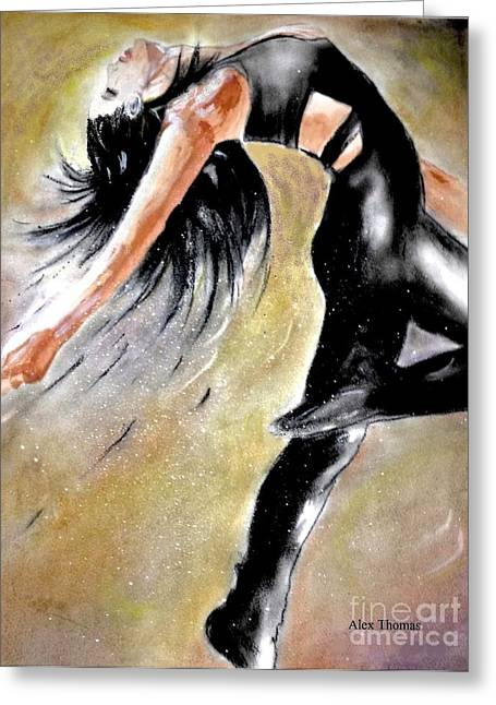 Dancing Girl Greeting Cards - Open chest Greeting Card by Alex Thomas