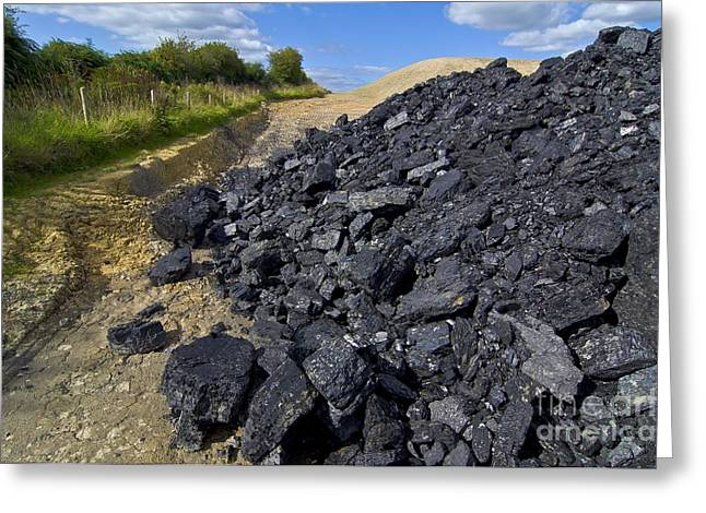 Mound Greeting Cards - Opencast Coal Greeting Card by Chris Knapton
