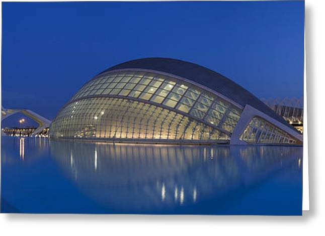 Geometric Image Greeting Cards - Opera House At The Waterfront, Ciutat Greeting Card by Panoramic Images