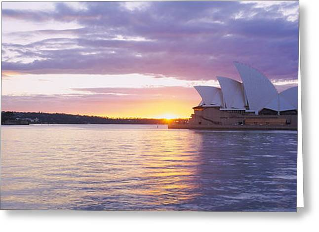 International Photography Greeting Cards - Opera House At The Waterfront, Sydney Greeting Card by Panoramic Images