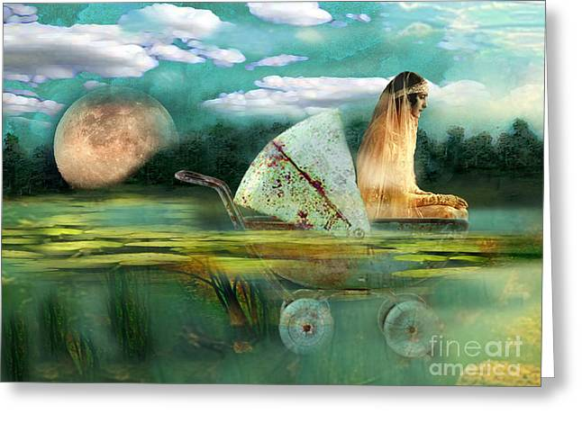 Creative Manipulation Digital Greeting Cards - Ophelia Greeting Card by Carolyn Slattery