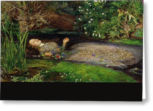 Ophelia Greeting Card by John Everett Millais
