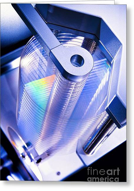 Optical Disc Production Machine Greeting Card by Richard Kail