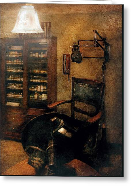 Optometrist - The  Optometrists Office Greeting Card by Mike Savad
