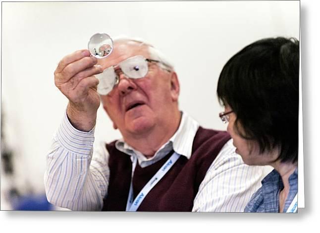 Optometry Lens Demonstration Greeting Card by Dan Dunkley