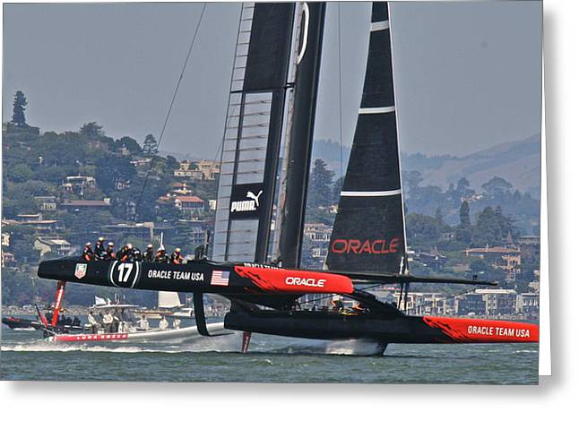 Ultimate Luxury Greeting Cards - Oracle Americas Cup 34 Greeting Card by Steven Lapkin