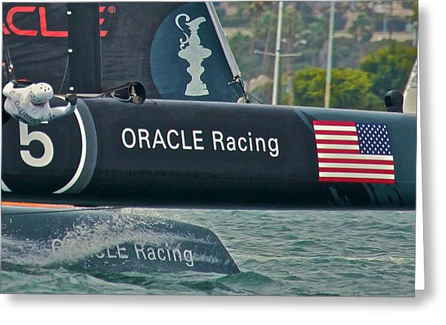 Americas Cup Greeting Cards - Oracle Racing Greeting Card by Steven Lapkin