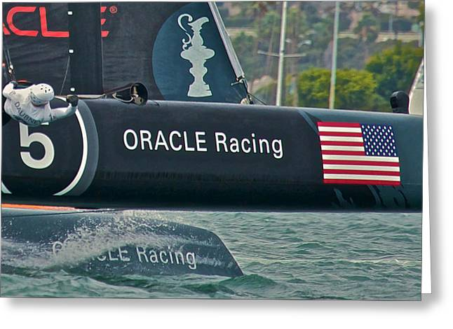 Artemis Greeting Cards - Oracle Racing Greeting Card by Steven Lapkin