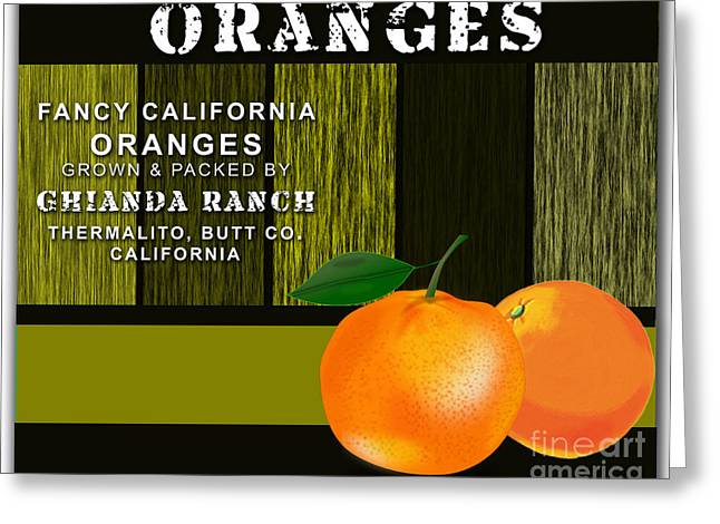 Orange Farm Greeting Card by Marvin Blaine