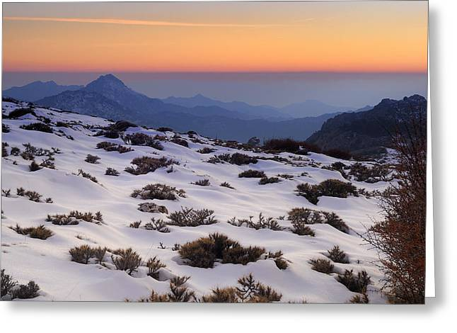 Spain Greeting Cards - Orange sunset Greeting Card by Guido Montanes Castillo