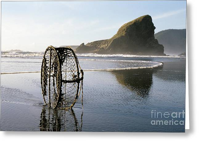 Crab Traps Greeting Cards - Oregon Coast Greeting Card by Jim Corwin