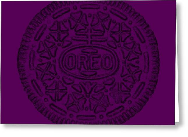 Oreo Greeting Cards - Oreo Muted Purple Greeting Card by Rob Hans