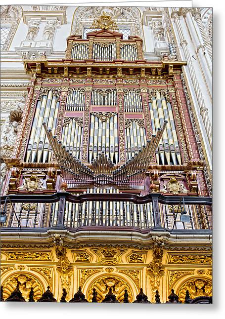 Church Music Greeting Cards - Organ in Cordoba Cathedral Greeting Card by Artur Bogacki