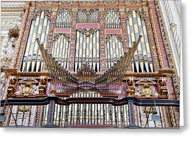 Organ in Cordoba Cathedral Greeting Card by Artur Bogacki