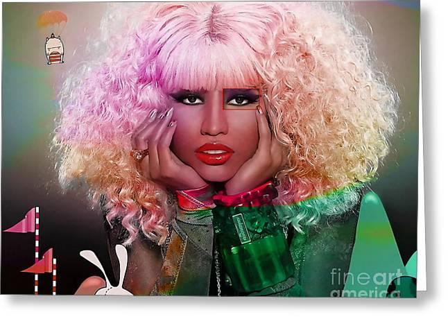 Nicki Minaj Greeting Cards - Original Nicki Minaj  Greeting Card by Marvin Blaine