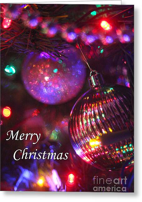 Gingrich Photography Digital Art Greeting Cards - Ornaments-2160-MerryChristmas Greeting Card by Gary Gingrich Galleries