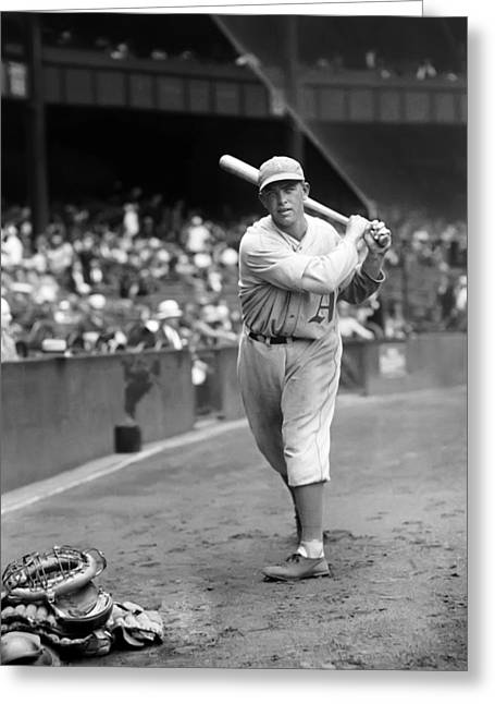 Baseball Bat Greeting Cards - Oscar Roettger Greeting Card by Retro Images Archive
