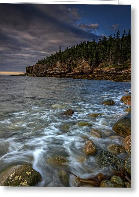 Maine Beach Greeting Cards - Otter Cliffs Greeting Card by Rick Berk