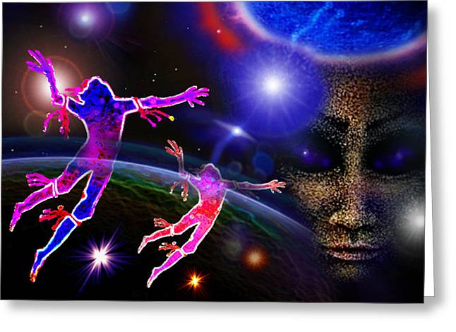 Angel With Star Greeting Cards - Our  Eternal  Dance Greeting Card by Hartmut Jager