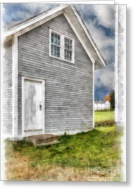 Shakers Greeting Cards - Out by the Woodshed Greeting Card by Edward Fielding