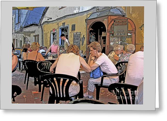 Haus Greeting Cards - Outside Seating Greeting Card by Ann Horn