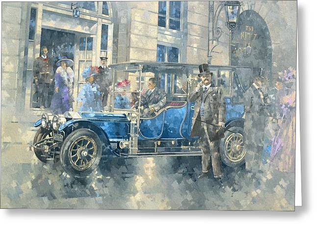 West End Greeting Cards - Outside The Ritz Oil On Canvas Greeting Card by Peter Miller