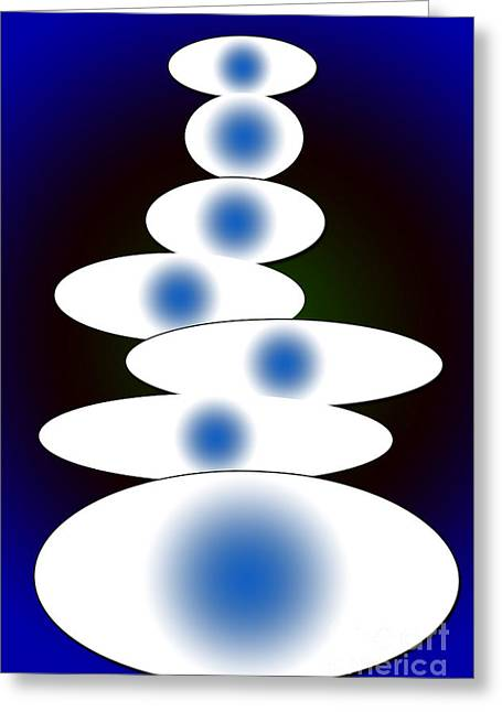 Installation Art Greeting Cards - Ovals Greeting Card by Tina M Wenger