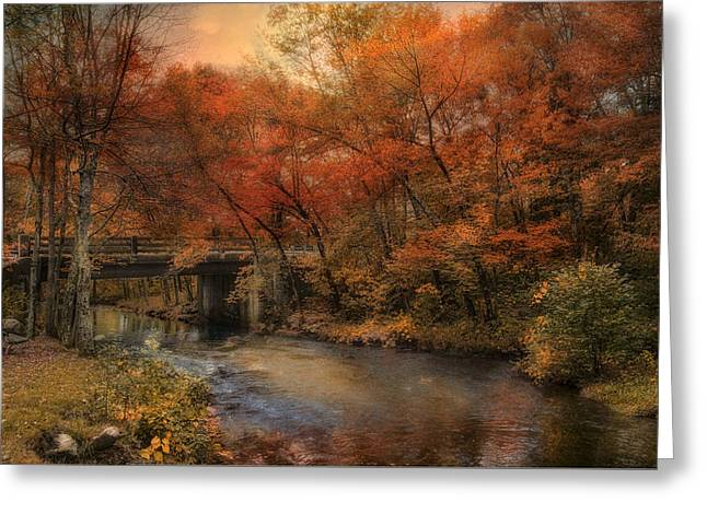 Blackstone River Greeting Cards - Over the River Greeting Card by Robin-lee Vieira