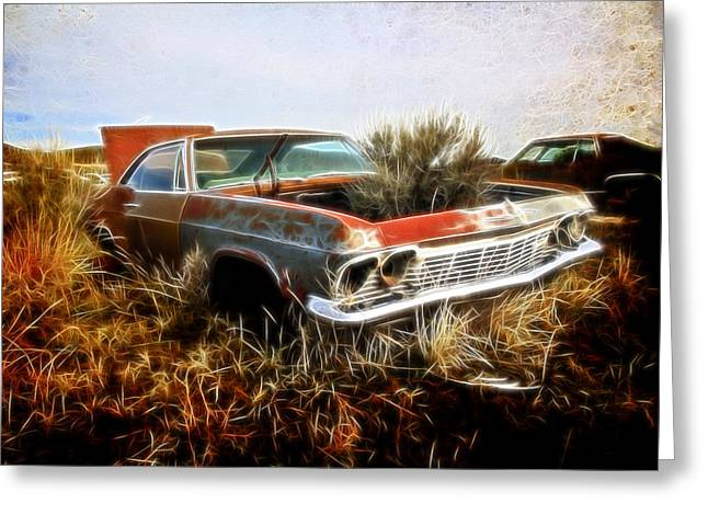 1950 Merc Greeting Cards - Overgrown Greeting Card by Steve McKinzie