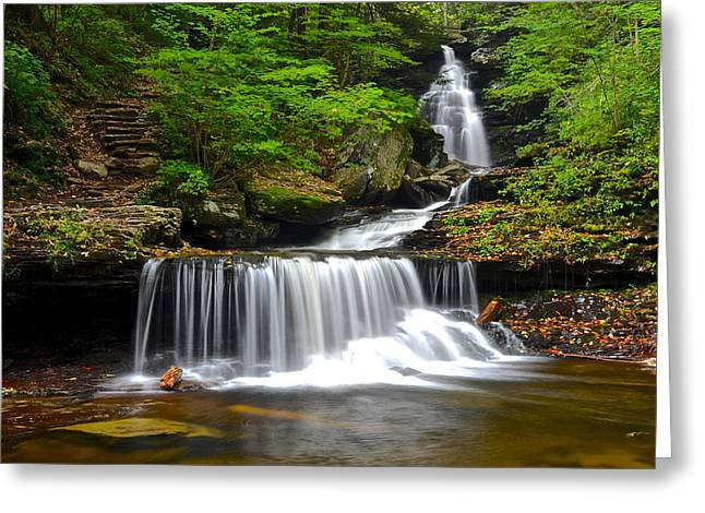Quite Photographs Greeting Cards - Ozone Falls Greeting Card by Frozen in Time Fine Art Photography