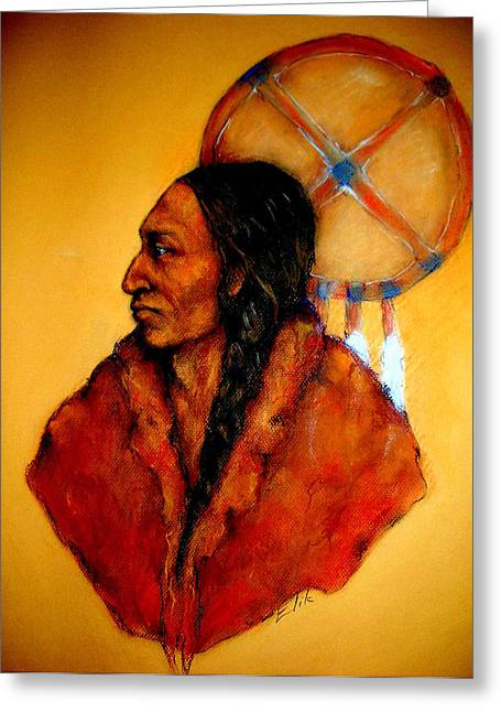Native American Theme Greeting Cards - Ozuye Wicasa - The Way of the Warrior Greeting Card by Johanna Elik