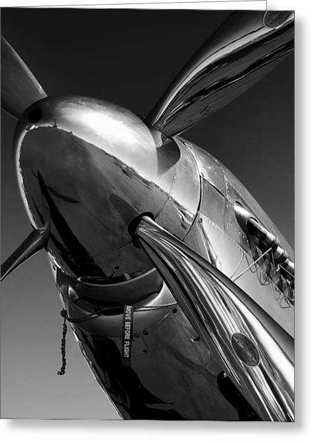 Plane Engine Greeting Cards - P-51 Mustang Greeting Card by John Hamlon