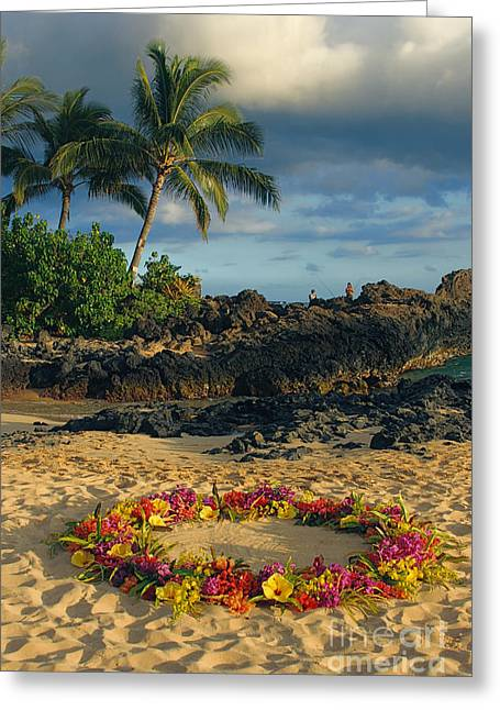 Honuaula Greeting Cards - Paako Beach Maui Hawaii Greeting Card by Sharon Mau
