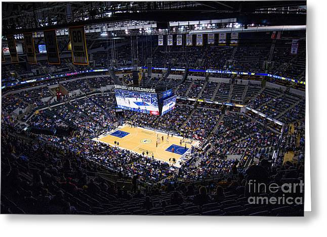 Pacers Indiana Greeting Card by David Haskett