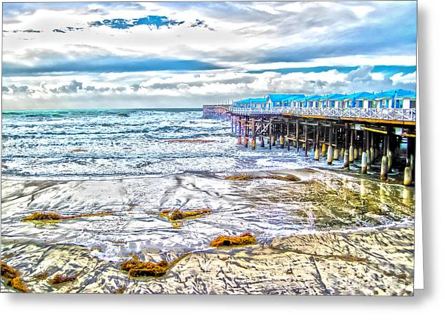 Ocean Art Photos Greeting Cards - Pacific Beach Greeting Card by Baywest Imaging