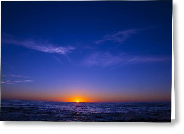 Pacific Greeting Cards - Pacific Sunset Greeting Card by Garry Gay