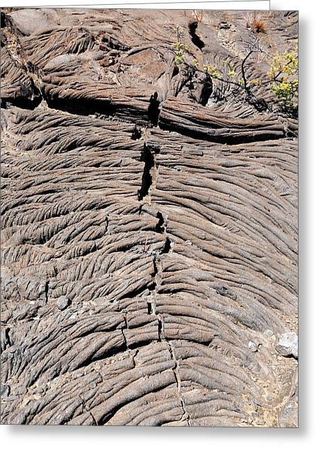 Pahoehoe Lava Greeting Card by Michael Szoenyi