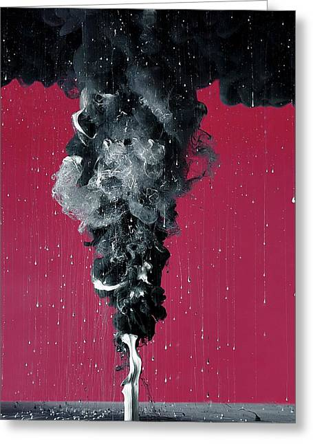 Paint Falling In Water Greeting Card by Neal Grundy