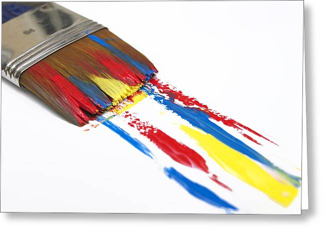 Bristles Greeting Cards - Paintbrush Greeting Card by Bernard Jaubert